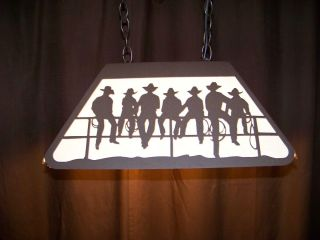 Awesome Laser Cut Steel Cowboy Kids Pool Table Game Room Light Lamp
