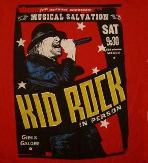 Kid Rock CD lgo Musical Salvation Official Shirt Last LRG New