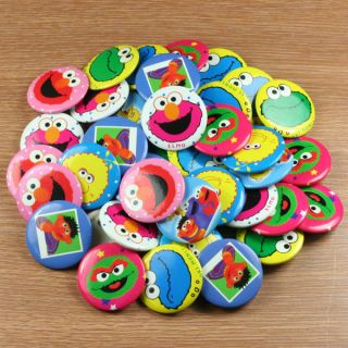 Sesame Street Elmo Cookie Monster Pins Buttons Badges Kids Party Gifts