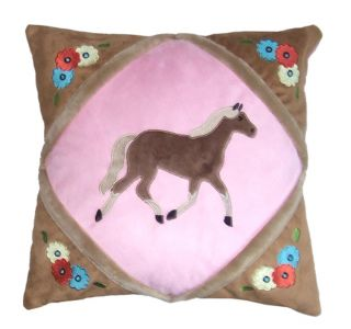 Kids Western Bedding Throw Pillow Cowgirl Horse New