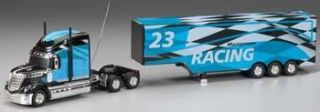 KID GALAXY RC FULL FUNCTION RC TRACTOR TRAILER CHECKERED FLAG NEW