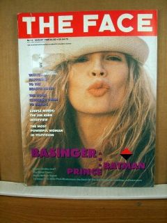 The Face Magazine August 1989 Kim Basinger