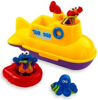 Toy Kids Fisher Price Sesame Street Tub Sub Gift Play Children New