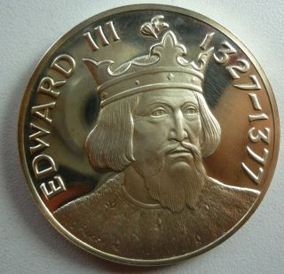 Edward III 1327 1377 Sterling Silver Round