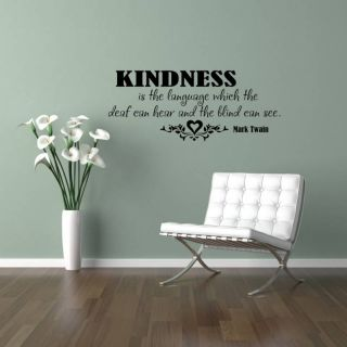 Kindness Vinyl Wall Saying Decal Sticker 11x27