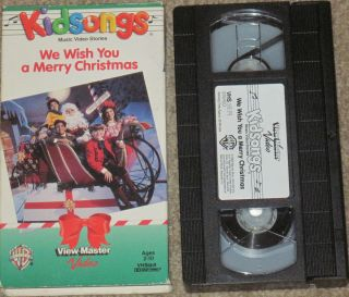 WB Viewmaster Kidsongs VHS We Wish You A Merry Christmas Live Kids