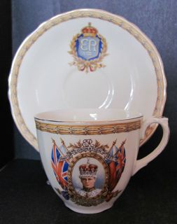 Rare Grindley King Edward VIII Coronation Commemorative Cup Saucer c