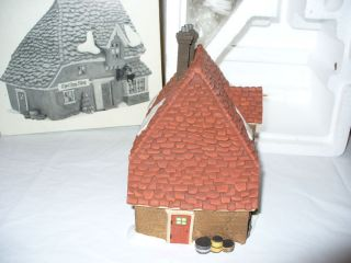Retired Dept 56 Dickens Village The CHOP SHOP 58331 Xmas House Snow