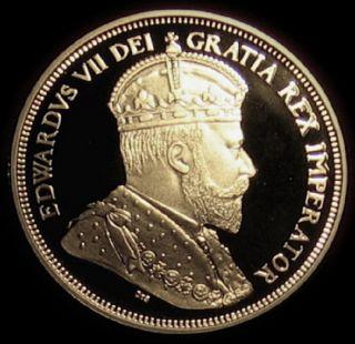 1908 2008 Canadian Silver Half Dollar King Edward VII