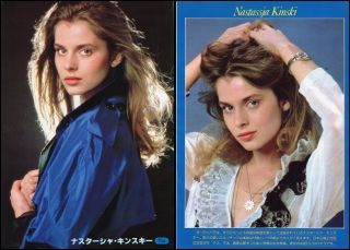 Nastassja Kinski Sexy 1980 JPN Pinup Picture clippings 2 Sheets OA R