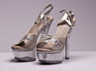 Kira Kener Autographed Clear Acrylic High Heel Shoes Pumps