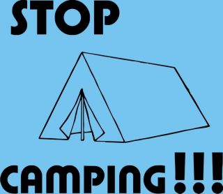 Stop Camping Call of Duty T Shirt Funny Black Ops 2 Mens Modern