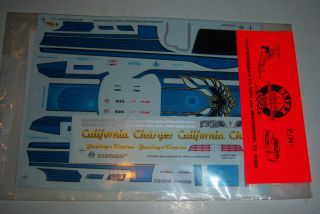 Slixx Model Kit Decals New Jerry Clayton California Charger 1280