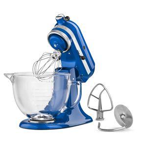 KitchenAid Electric Blue 5 Qt Glass Bowl Tilt Head Stand Mixer