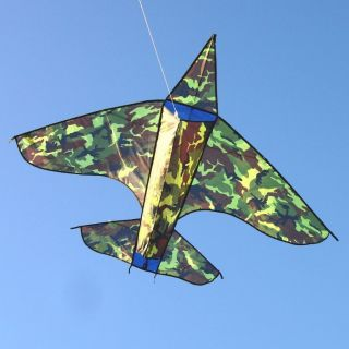 NEW Camouflage Airplane Kite USA Army Marines Air Force Ease To Fly