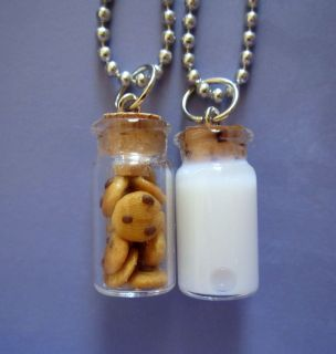 Best Friends Necklace Made for Each Other Junk Food Cute Kitsch