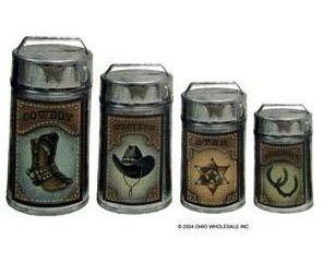 Orange ceramic kitchen canister set on popscreen - Western canisters for kitchen ...