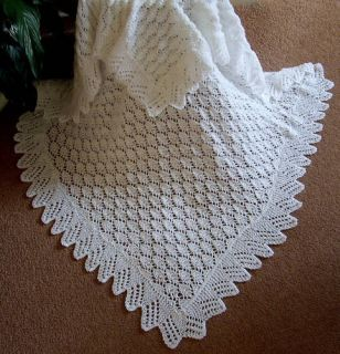 Baby Shawl Patterns To Knit : Knitted Baby Shawls on PopScreen