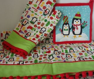 Kitchen Gift Set Includes Tea Towel Oven Mitt Pot Holder