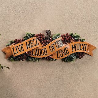 Live Love Laugh Wall Sign Plaque Decor Hanging Kitchen 16 Long