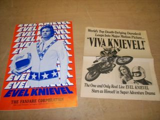 EVEL KNIEVEL ORIGINAL AUTHENTIC VIVA KNIEVEL THEATRE PRESS SAMPLES