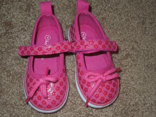 Koala Kids Size 4 Baby Girl Shoes Pink with Velcro Cute Pre Owned