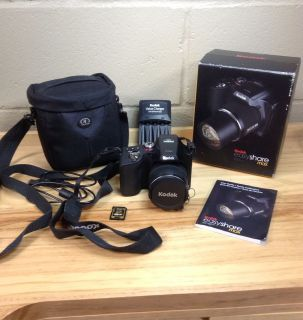 Kodak EASYSHARE MAX Z990 12 0 MP 30X Digital Camera W Bag Card Batt