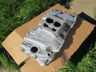 VINTAGE Offenhauser Dual Port Intake Manifold Big Block Chevy Oval