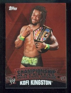 WWE Kofi Kingston 2010 Topps Championship Belt Puzzle