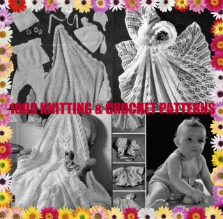 1000 KNITTING CROCHET PATTERNS FOR BABY REBORN DOLL SHAWLS CD FREE