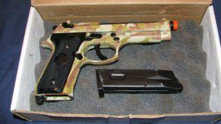 KJ Works Military Camo Model M92F Semiautomatic Air Pistol Gun