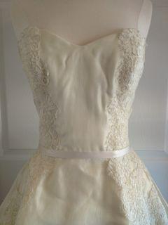 Amsale Kleinfeld Sample Sweetheart Lace Wedding Gown 3500 Dress A line