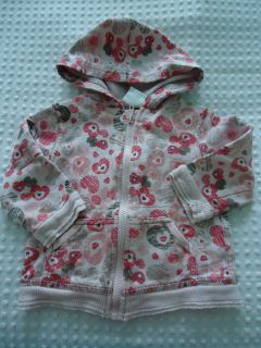 Girls Size 12 Months Koala Kids Full Zipper Hoodie sweat Shirt with