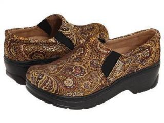 Klogs USA Naples Tapestry Purple Gold Clogs Shoes WomenS