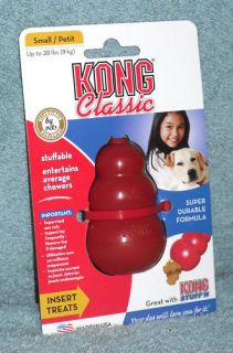 Classic Red Kong Dog Chew Toy Small T3 Fast SHIP L K