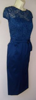 KM Collections Blue Lace Beaded Mother Bride Dress 14