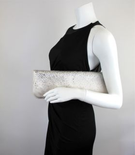 Casadei Satin Crystal Clutch Never Carried at Socialite Auctions 11
