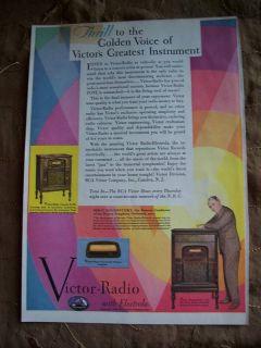 1930 RCA Victor Radio Electrola RE45 Koussevitzky Ad