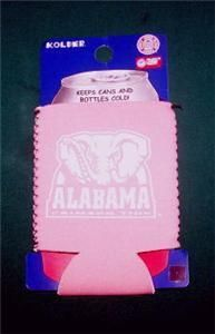 Alabama Crimson Tide Pink Can Coolie Koozie Kolder New