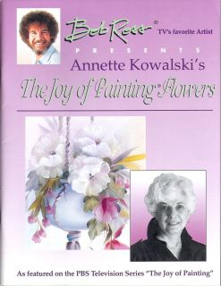 Bob Ross The Joy of Painting Flowers by A Kowalski