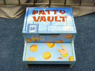 Spongebob Squarepants Krabby Patty Vault Toy Box Book Chest Chair