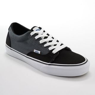 New Mens Vans Kress Skate Shoes Black Gray Lace Up Canvas Upper