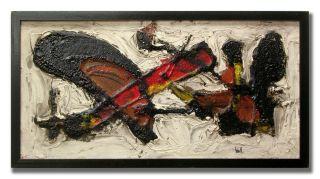 Finn Krogh Abstract Original Danish Oil Painting