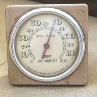 Vintage Germanow Simon Co Rochester N Y Tel Tru Room Thermometer