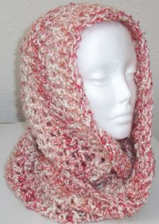 Hand Crocheted Infinity Eternity Scarf Parfait Lion Homespun Yarn