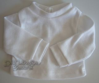 Fits Bitty Baby Doll Clothes 15 Inch White Long Sleeve T Shirt Snap