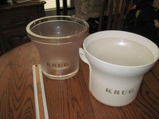 Krug Double 2 Champagne Magnum Cooler Ice Bucket Full Size White