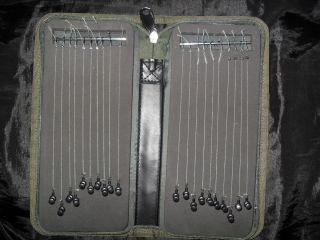 Rig Wallet Full of Fox Carp Hair Rigs Size 6 8 10 Hooks Korda