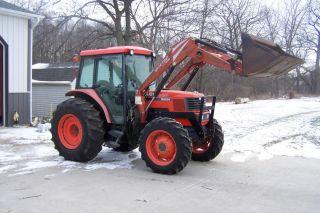 Kubota Four Wheel Drive 8200 Loader Tractor