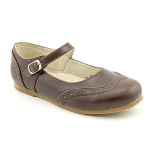 Amour Y660 Youth Kids Girls Size 12 Brown Leather Mary Janes Shoes